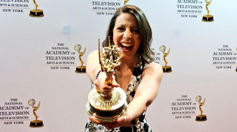 Mickela Mallozzi Emmy Winner