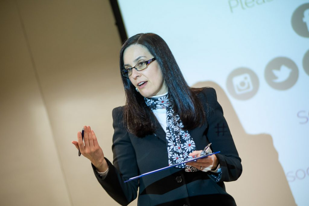 Helena Escalantes in a Speaking Event